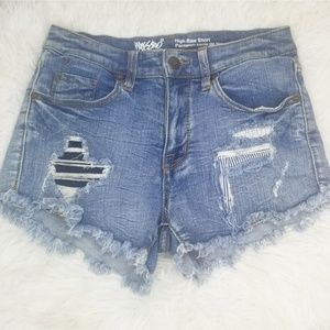 Mossimo denim high rise distressed shorts